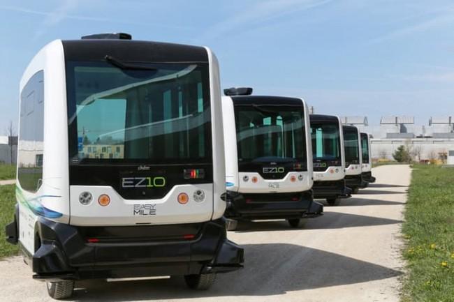 프랑스 이지마일이 제작한 자율주행 전기 버스 EZ10 - Gizmag 제공
